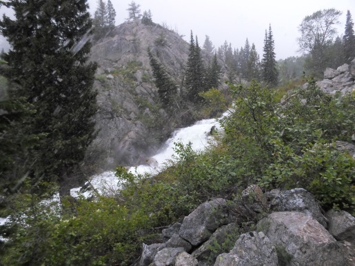 Light snow in June