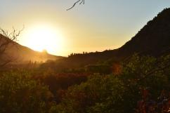 Sunset behind Needle Rock